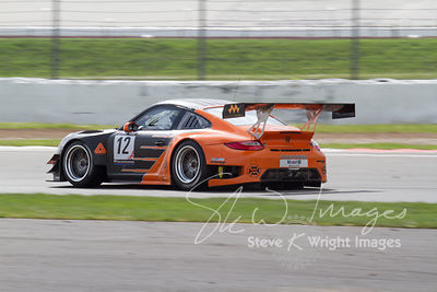 Trackspeed Porsche 997 GT3 R in action at the Silverstone 500 - the third round of the British GT Championship 2014 - 1st June 2014