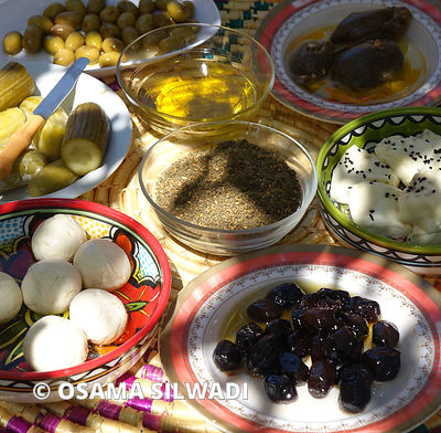 Palestinian Food - Breakfast table