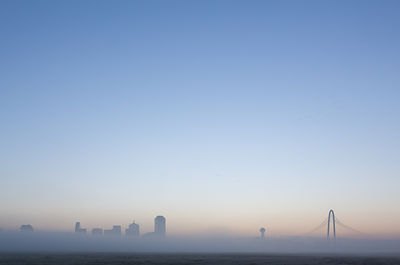 Dallas Skyline Above the Fog