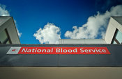 National Blood Service signs