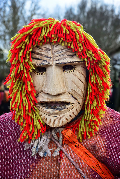 Wooden mask from Vila Boa de Ousilhão used during the Winter Solstice Festivities. Trás-os-Montes, Portugal