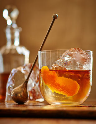 Old Fashioned Whiskey Lowball Drink