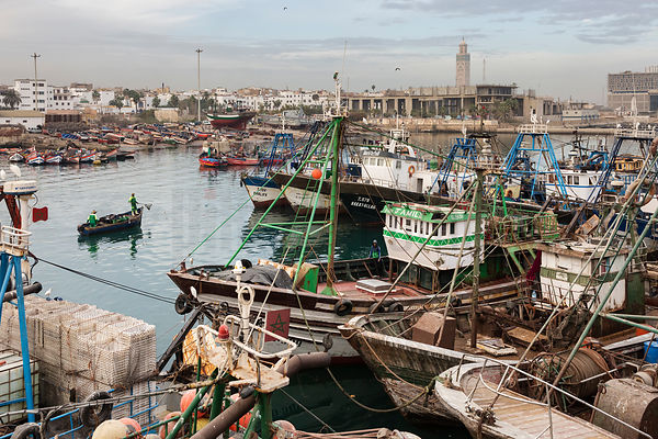 Boats in the Casablanca Fishing Port
