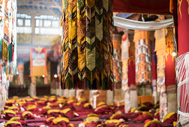 Inside of Dreprung Monastery in Lhasa, Tibet.