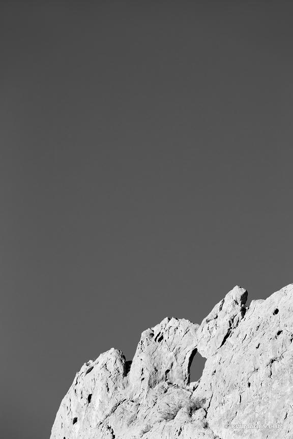 KISSING CAMELS GARDEN OF THE GODS COLORADO SPRINGS COLORADO BLACK AND WHITE VERTICAL