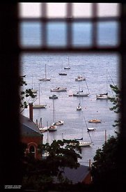 Rockport, ME harbor, thru window