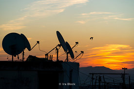 Satellite dishes in Fes, Morocco
