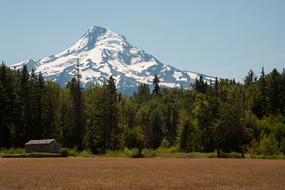 Mount Hood - August Snow Cover