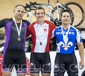 Men Keirin Podium. Canadian Track Championships, Mattamy National Cycling Centre, Milton, On, September 26, 2016