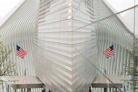 The Oculus structure at the World Trade Center Transportation Hub in New York.  It opened after nearly 12 years of construction on March 7, 2016. The grand structure was designed by Spanish architect Santiago Calatrava at a cost of $4 billion in public money, almost $2 billion over budget. The hub offers connections to the PATH train connecting New York City and New Jersey.