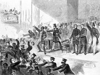 Confrontation at abolition rally in December 1860