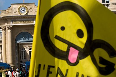 Manifestation anti OGM devant l'assemblée nationale
