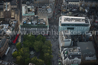 Aerial view of Leicester Square, London