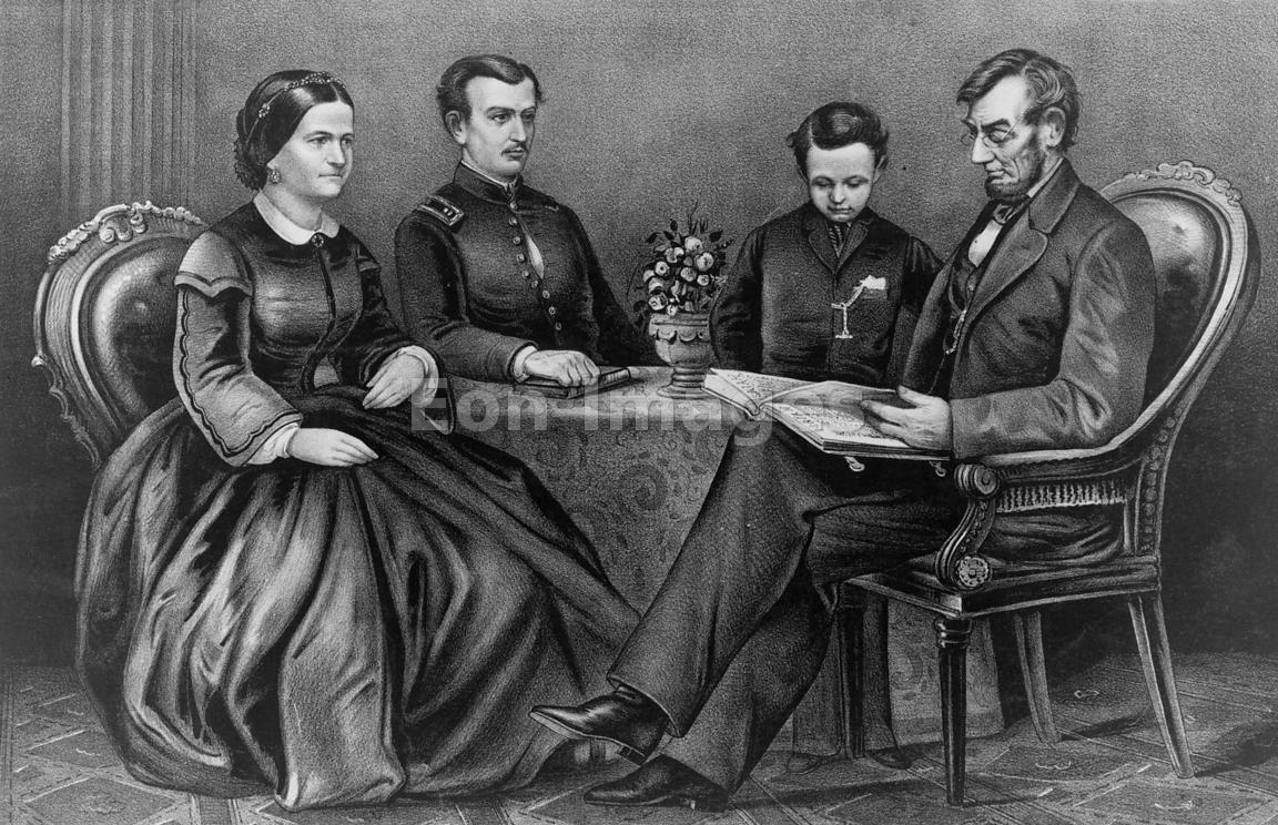 Eon Images Abraham Lincoln With Wife Mary And Sons