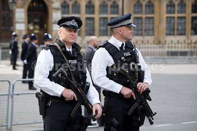 Armed Police Officers outside Westminster Abbey