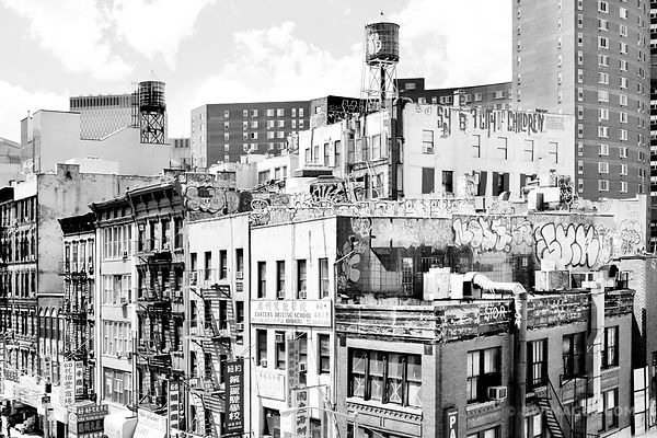 CHINATOWN NEW YORK CITY BLACK AND WHITE