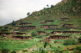 Hillside houses