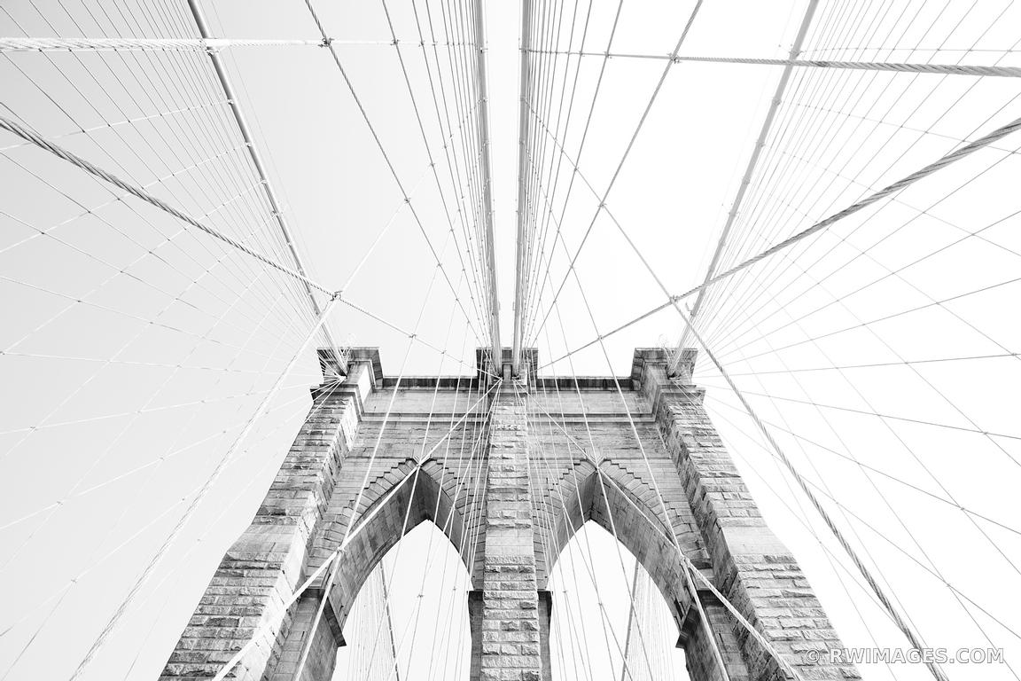 Photo print of brooklyn bridge new york black and white for Brooklyn bridge black and white wall mural