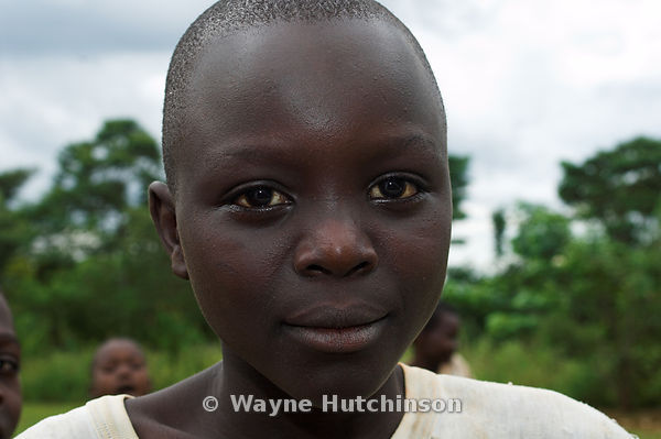 Young African boy facing camera, western Kenya Africa