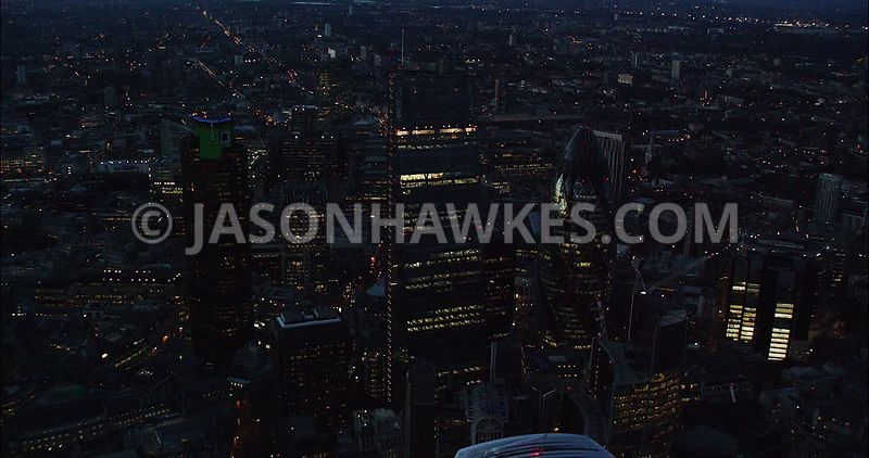 London Aerial Footage of City of London with Leadenhall Building