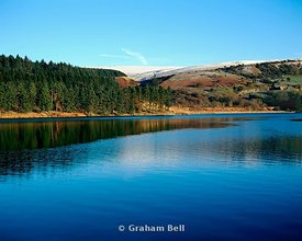 pontsticill reservoir beacons national park powys wales