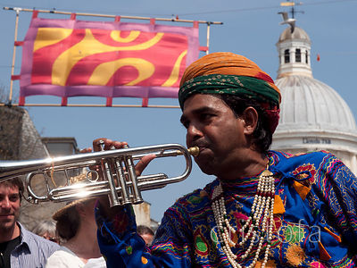 Jaipur Kawa brass band at the Golowan Festival Mazey Day