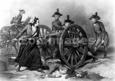 Molly Pitcher at Battle of Monmouth