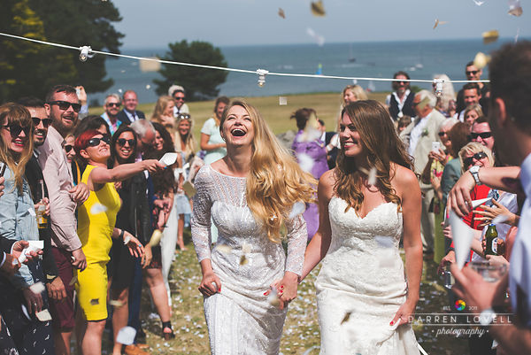 Rebecca & Lauren - Studland Bay House Wedding Photos