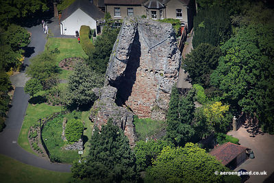 aerial photograph of Bridgnorth Castle Shropshire England UK
