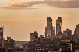 A view of the upper west side of Manhattan