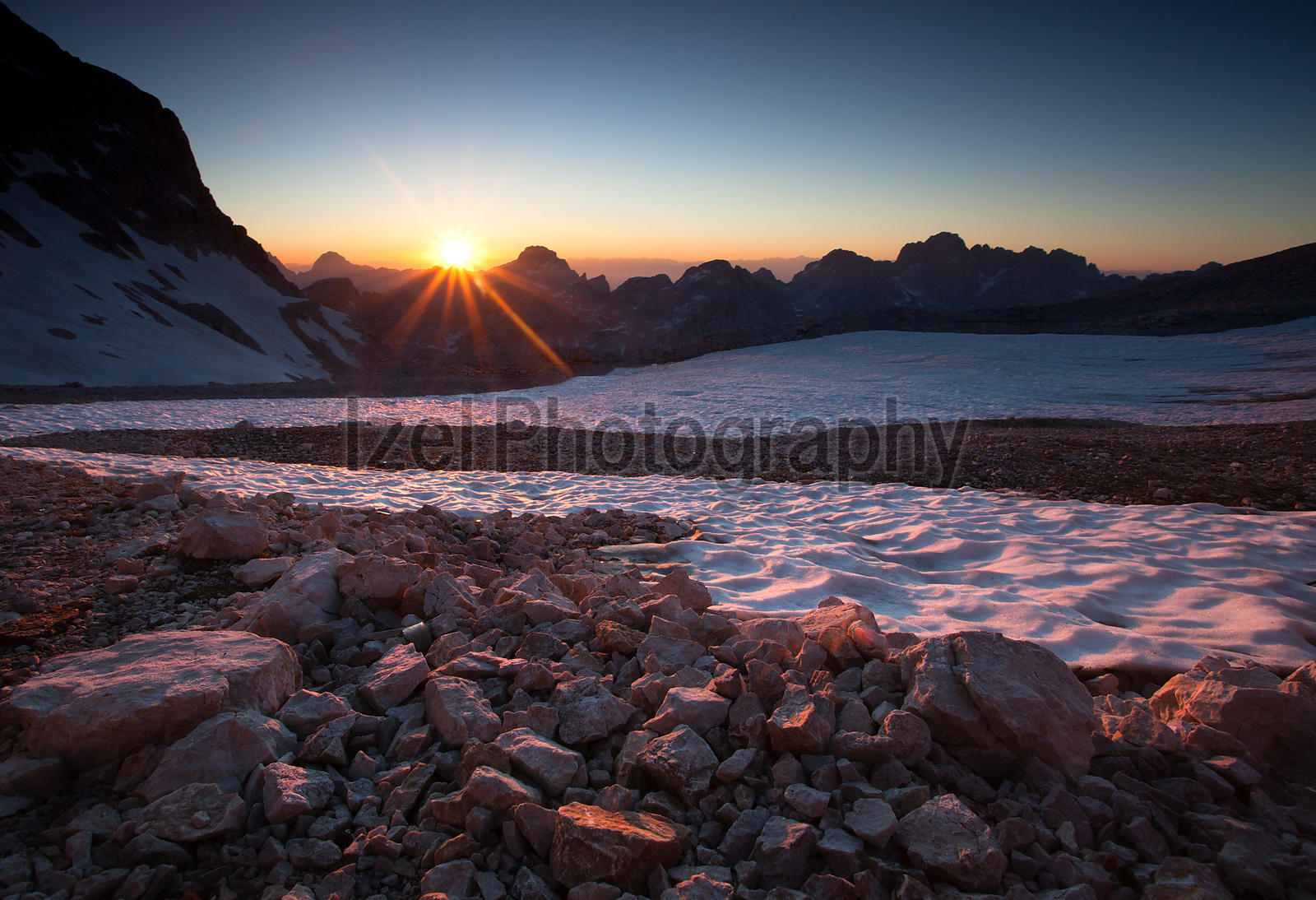 Sunset over the Julian Alps - Mountain Photography