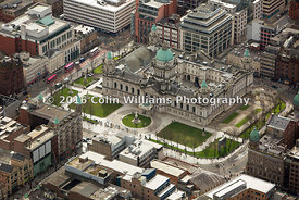 Aerial photography for Belfast City Hall