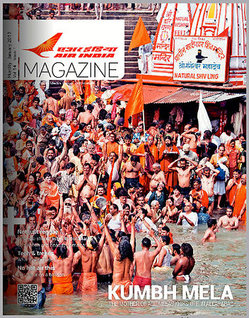 Kumbh Coverage - Air India Magazine;  January 2013 photos