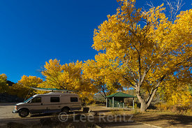 Campground at Orilla Verde in Rio Grande del Norte National Monument