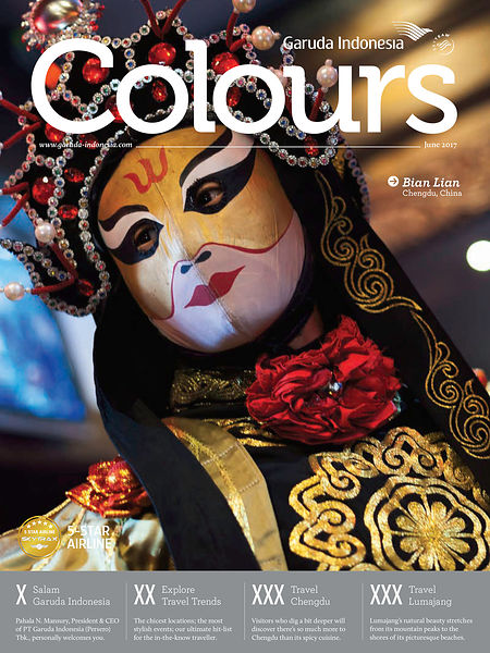 Parution dans Colours, Garuda indonesia Colours