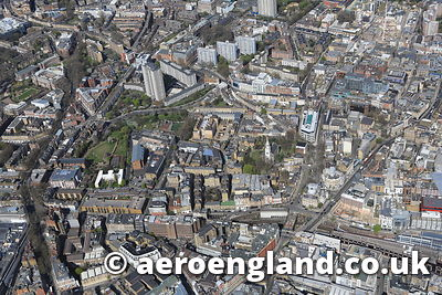 aerial photograph of Islington London UK