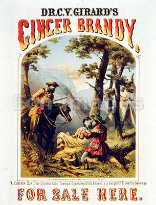 Patent medicine ad for ginger brandy
