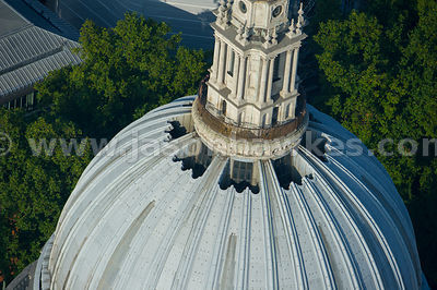 Aerial view of St Paul's Cathedral Dome, London