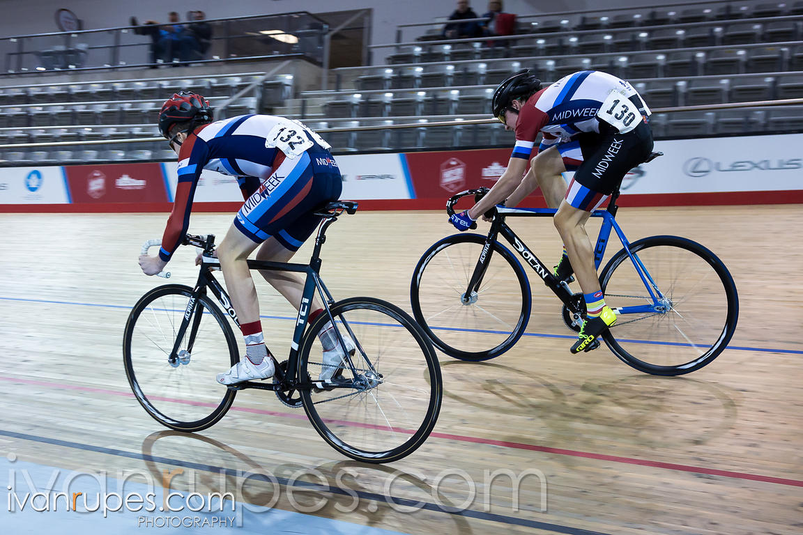 U17 Men Sprint 3-4 Final. 2016/2017 Track O-Cup #3/Eastern Track Challenge, Mattamy National Cycling Centre, Milton, On, February 11, 2017