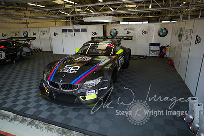 Triple Eight Race Engineering BMW Z4 GT3 in the pits, pre-race, at the Silverstone 500 - the third round of the British GT Championship 2014 - 1st June 2014