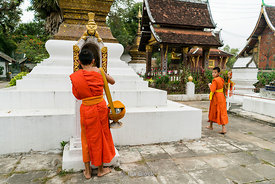Monks at Luangprabang, Laos.