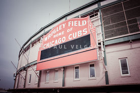 Retro Wrigley Field Sign