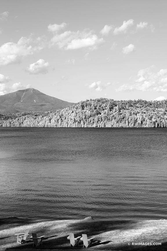 WHITEFACE MOUNTAIN LAKE PLACID ADIRONDACKS UPSTATE NEW YORK BLACK AND WHITE