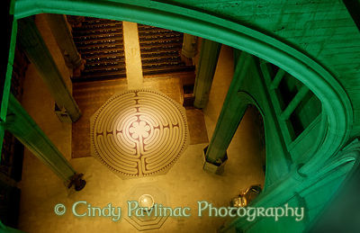 Grace Cathedral Labyrinth from Above