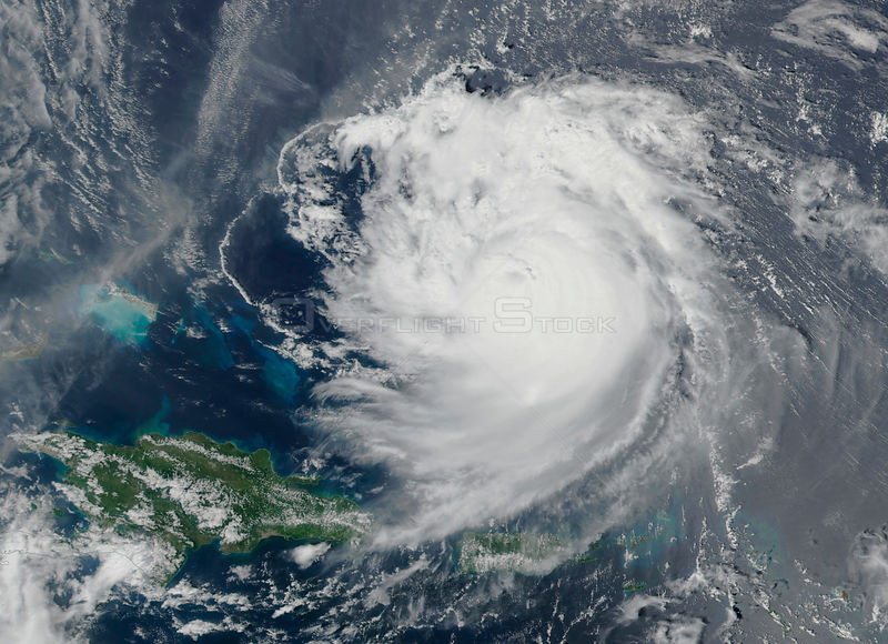 NASA Satellite Shows Hurricane Jose Weakening