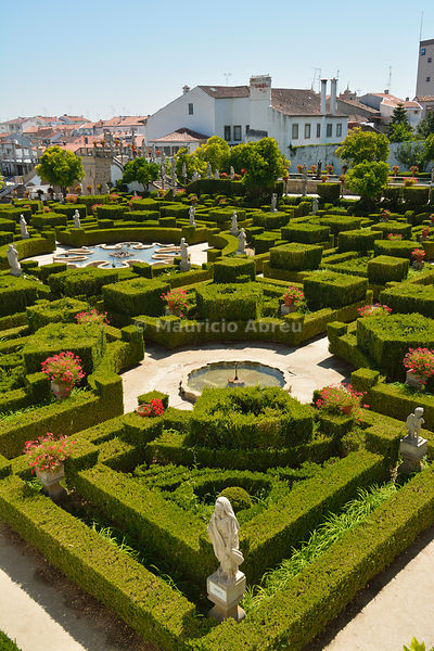 Gardens of the Paço Episcopal of Castelo Branco, founded in the 18th century by the Bishop João de Mendonça. Portugal