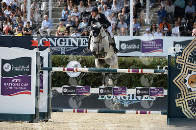 Martin FUCHS ,(SUI), CYNAR VA during Longines Cup of the City of Barcelona competition at CSIO5* Barcelona at Real Club de Polo, Barcelona - Spain
