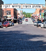 Fort Worth Stockyards sign in Texas