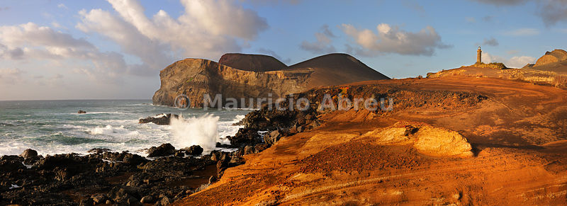 The Vulcão dos Capelinhos (Capelinhos volcano) last eruption was in 1957. It is a major attraction in Azores islands for its history, its geology and the wild beauty of the site. Faial, Azores islands, Portugal