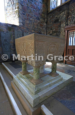 The Font, Iona Abbey Church, Isle of Iona, Inner Hebrides, Scotland